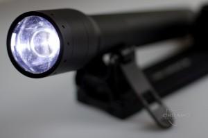 Die niedrige Leuchtstufe der P17R mit Advanced Focus System
