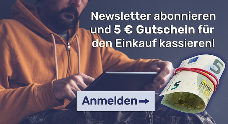 Newsletter abonnieren und 5 Euro kassieren!